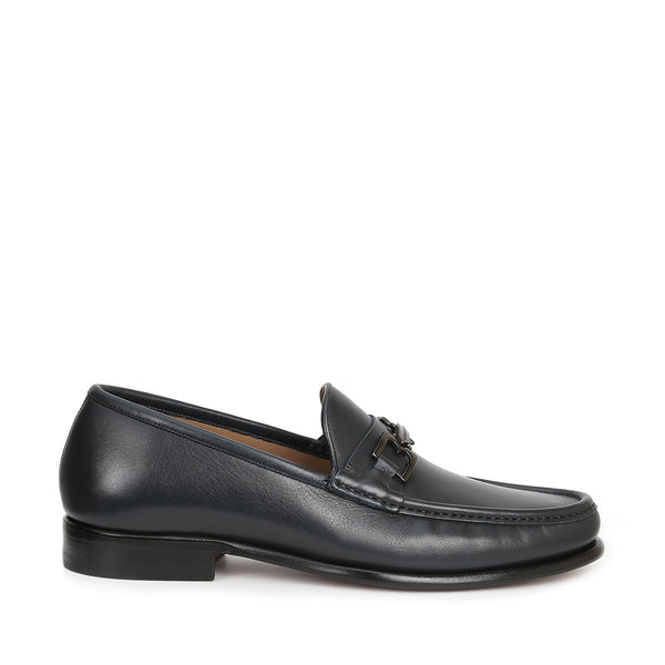 Enzo Slip-On Bit Loafer - Navy Leather