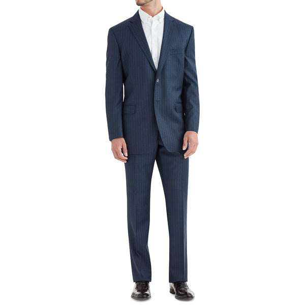 Verdi Pinstripe Two-Button Suit - Navy - Online Exclusive - FINAL SALE