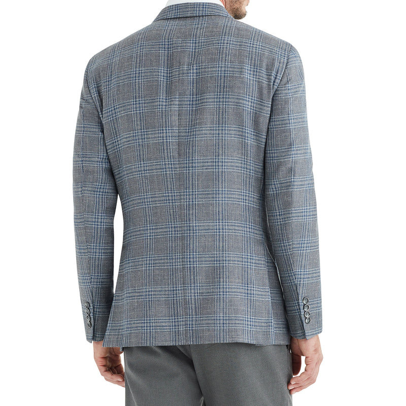 Lucca Plaid Wool & Linen Sportcoat - Grey - Online Exclusive - FINAL SALE