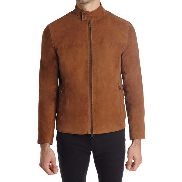 Siene Men's Suede Moto Jacket - Light Brown - FINAL SALE