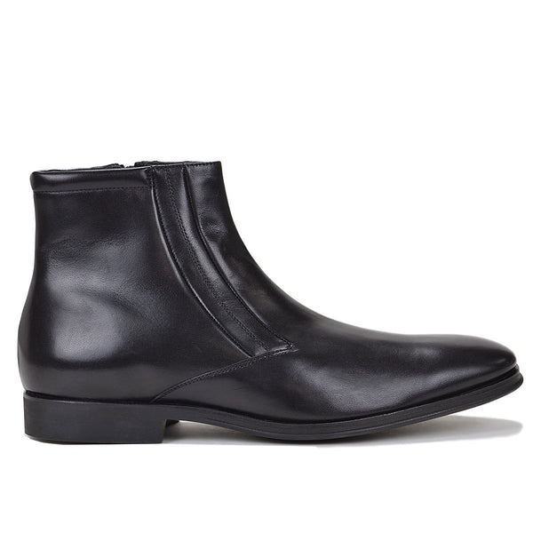 Raspino Boot - Black Leather
