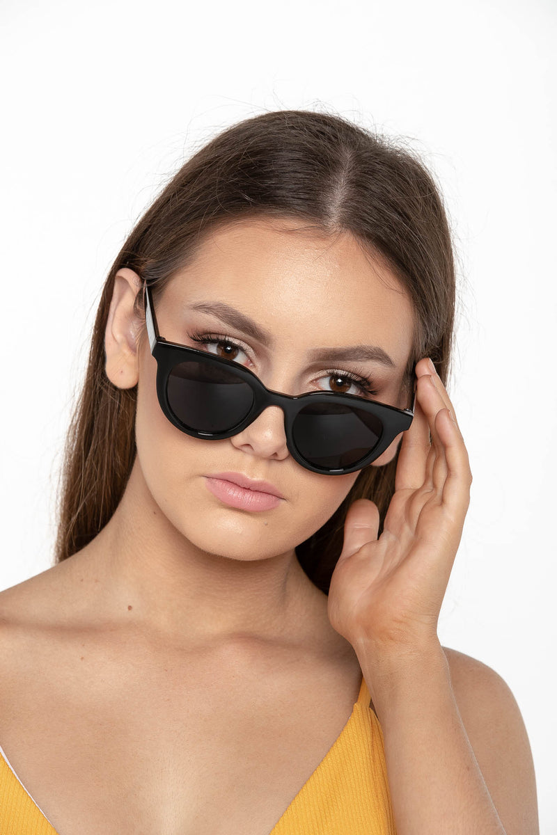 EXPENSE CAT EYE SUNGLASSES BLACK - CHICKABERRY BOUTIQUE Australia Womens