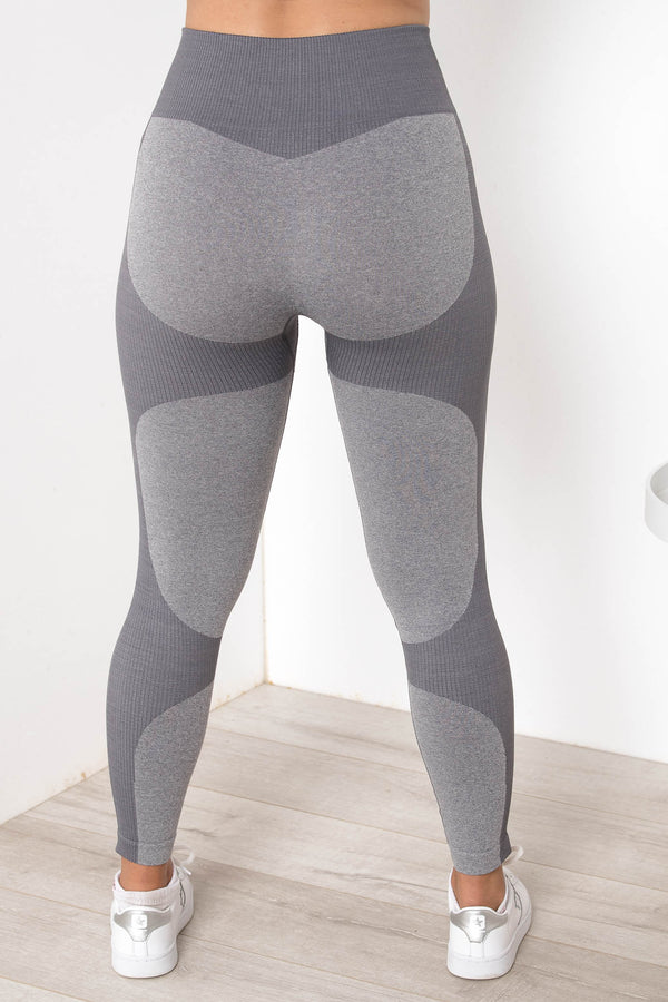 SIERRA SEAMLESS HIGH WAIST TIGHTS COOL GREY - CHICKABERRY BOUTIQUE Australia Womens