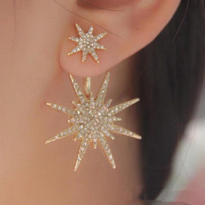 Gold Plate Exquisite Starlight Stud Earrings For Women