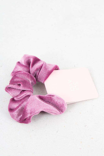 Small Velour Hair Elastic - Rose fra Sui Ava 1