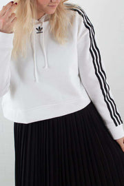 Cropped Hoodie DX2321 - White fra Adidas Originals