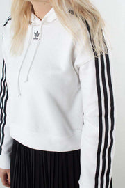 Cropped Hoodie DX2321 - White fra Adidas Originals 2