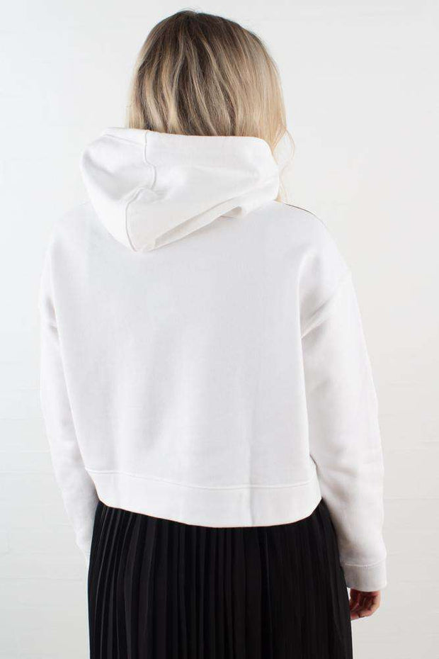 Cropped Hoodie DX2321 - White fra Adidas Originals 3