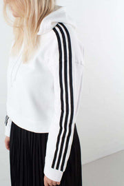 Cropped Hoodie DX2321 - White fra Adidas Originals 4