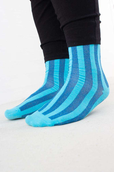 Vertical Stripes Socks i Turkis fra Pico 2