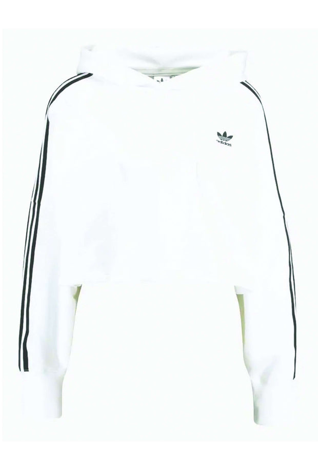 Cropped Hoodie DX2321 - White fra Adidas Originals 5