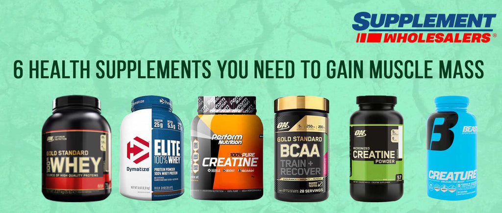 6 health supplements you need to gain muscle mass