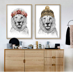 Gallery Wall Lion Art Print Twin Set from Gallery Wallrus | Eclectic Wall Art & Decor with Worldwide Shipping
