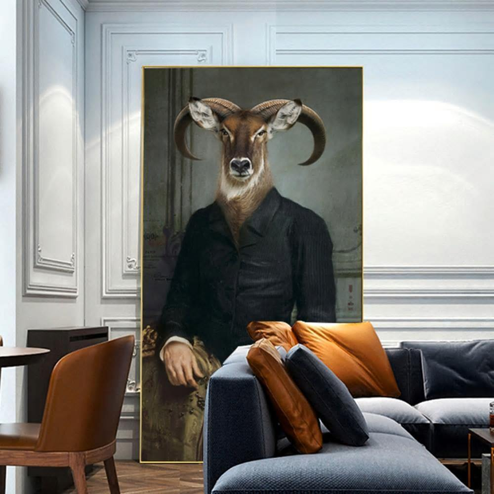 Hipster Ram Gentleman Art Print from Gallery Wallrus | Eclectic Wall Art & Decor with Worldwide Shipping