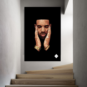 Cool Geometric Drake Portrait Art Print from Gallery Wallrus | Eclectic Wall Art & Decor with Worldwide Shipping