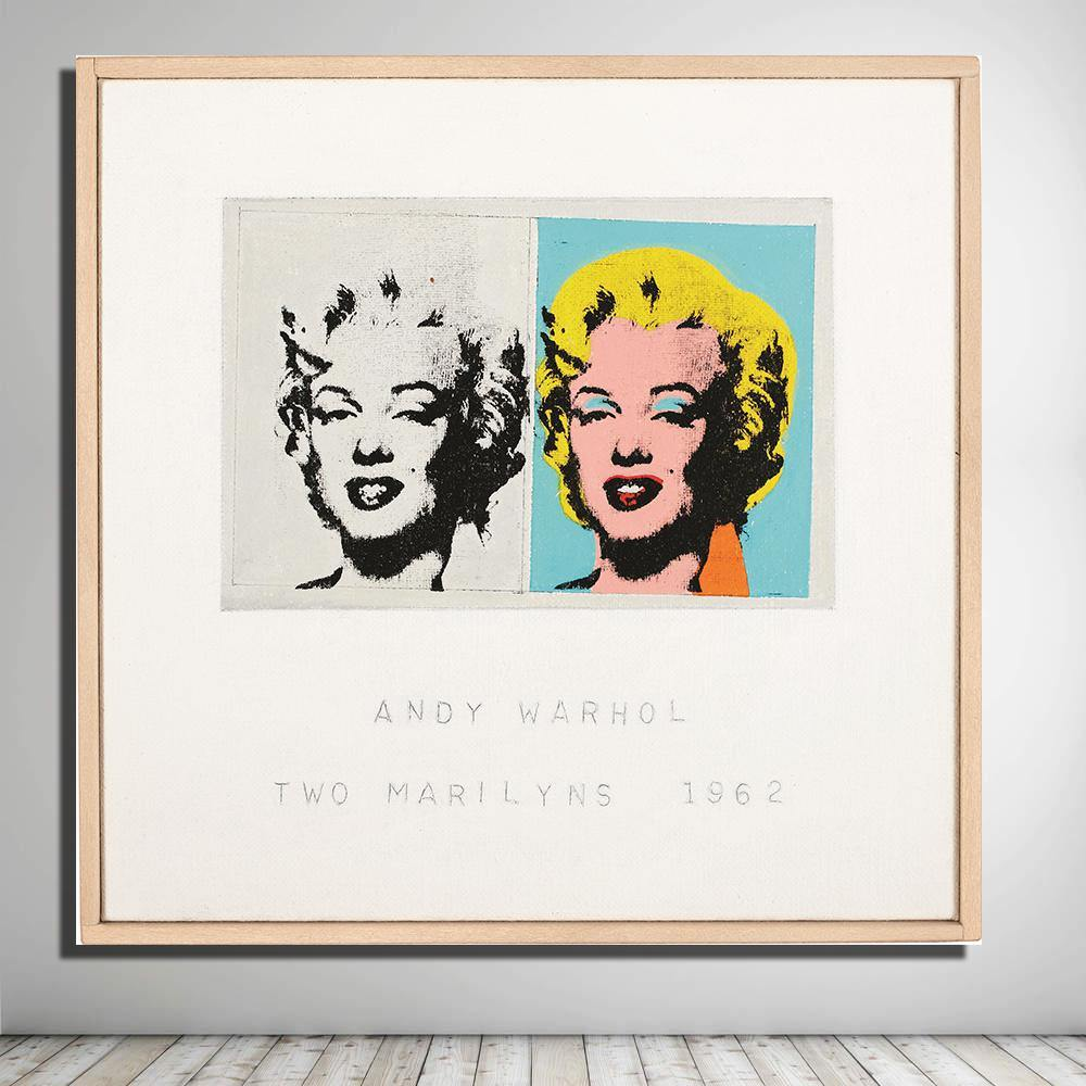 Two Marilyns 1962 by Andy Warhol Art Print from Gallery Wallrus | Eclectic Wall Art & Decor with Worldwide Shipping