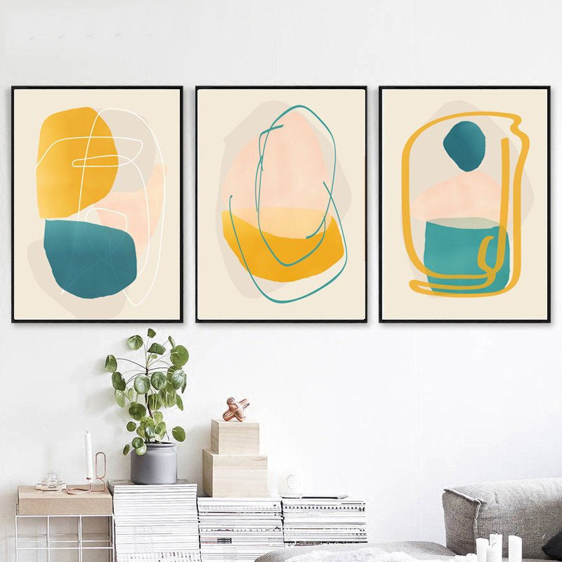 Gallery Wall Trio of Abstract Shapes Artworks from Gallery Wallrus | Eclectic Wall Art & Decor with Worldwide Shipping