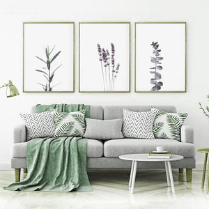 Gallery Wall Trio of Botanical inspired Art Prints from Gallery Wallrus | Eclectic Wall Art & Decor with Worldwide Shipping