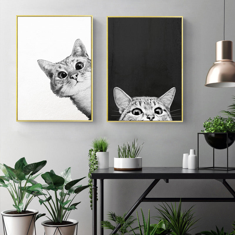 Gallery Wall Twin Set of of Cat Art Prints from Gallery Wallrus | Eclectic Wall Art & Decor with Worldwide Shipping