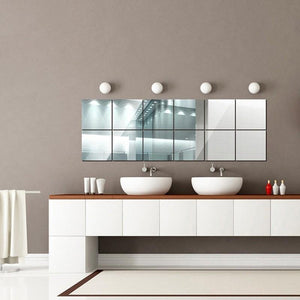 16 x Mirror Wall Sticker Tiles from Gallery Wallrus | Eclectic Wall Art & Decor with Worldwide Shipping