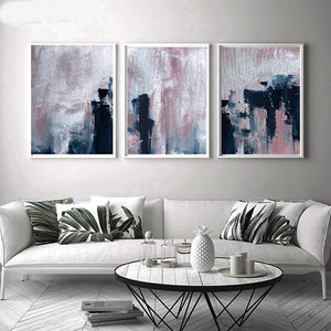Gallery Wall Trio of Abstract Spray Paint Artworks from Gallery Wallrus | Eclectic Wall Art & Decor with Worldwide Shipping