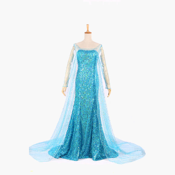 Frozen Elsa Princess dress costume cosplay custom made Halloween women dress