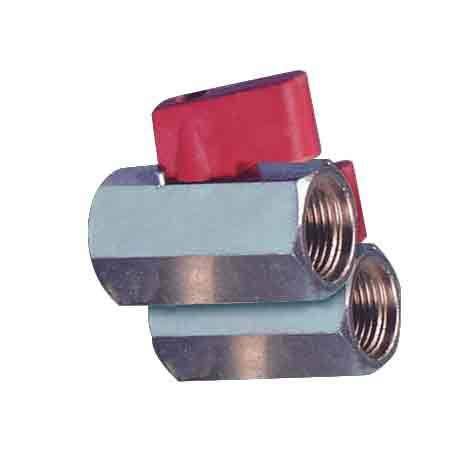 Hose Fittings - Ball Valve- Miniature, Female/Female Thread