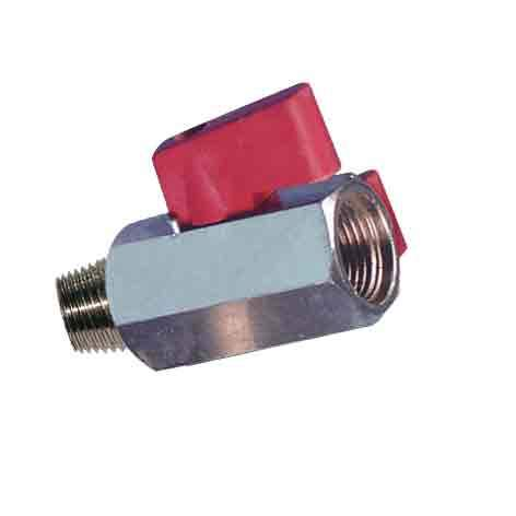 Hose Fittings - Ball Valve- Miniature, Male/Female Thread