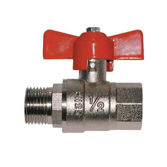 Hose Fittings - Ball Valve- T Handle, Female/Male Thread