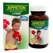 APPETON MULTIVITAMIN LYSINE WITH PREBIOTICS 60'S