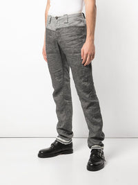 ZIGGY CHEN MEN RAW EDGE PANTS