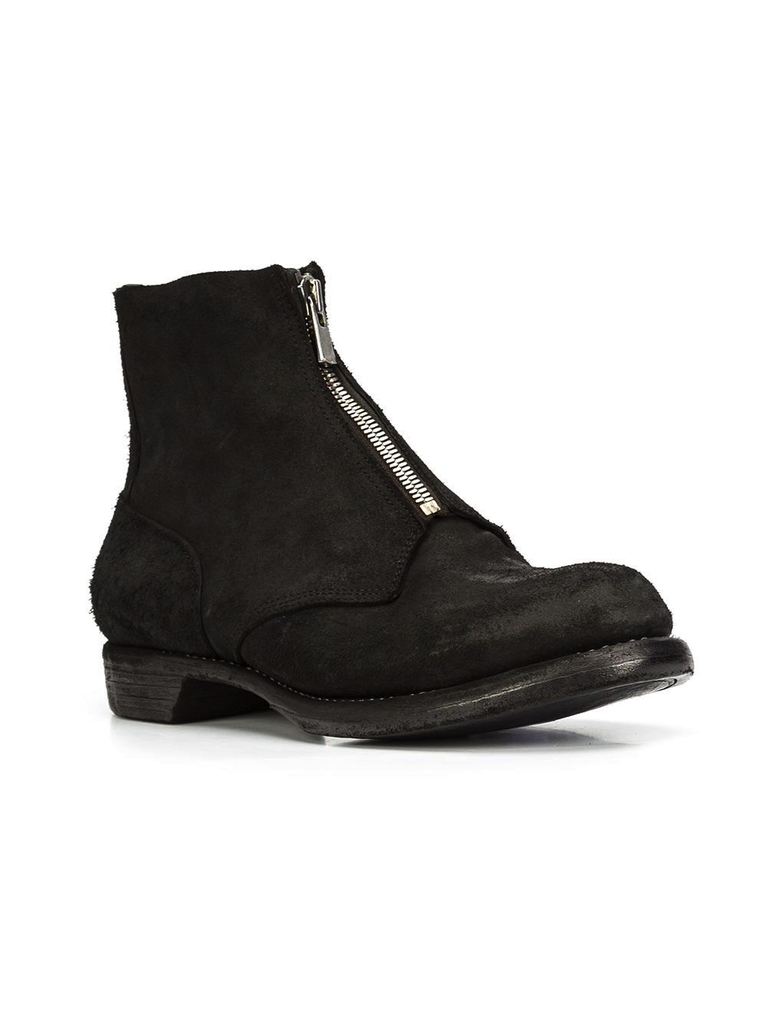 GUIDI MEN FRONT ZIP COMBAT BOOT