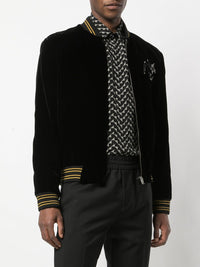 SAINT LAURENT MEN TEDDY RADIO VELOUR JACKET
