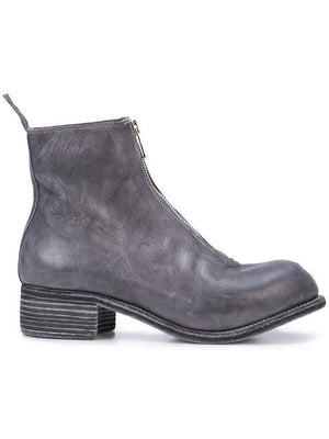 GUIDI MEN PL1 HORSE LEATHER FRONT ZIP BOOTS