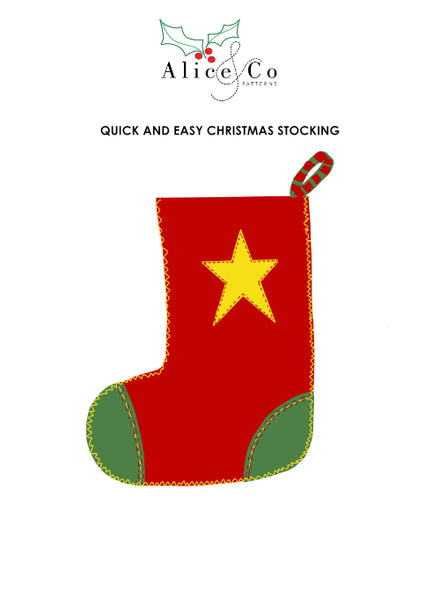 Advent Day 22 Alice & Co Christmas stocking