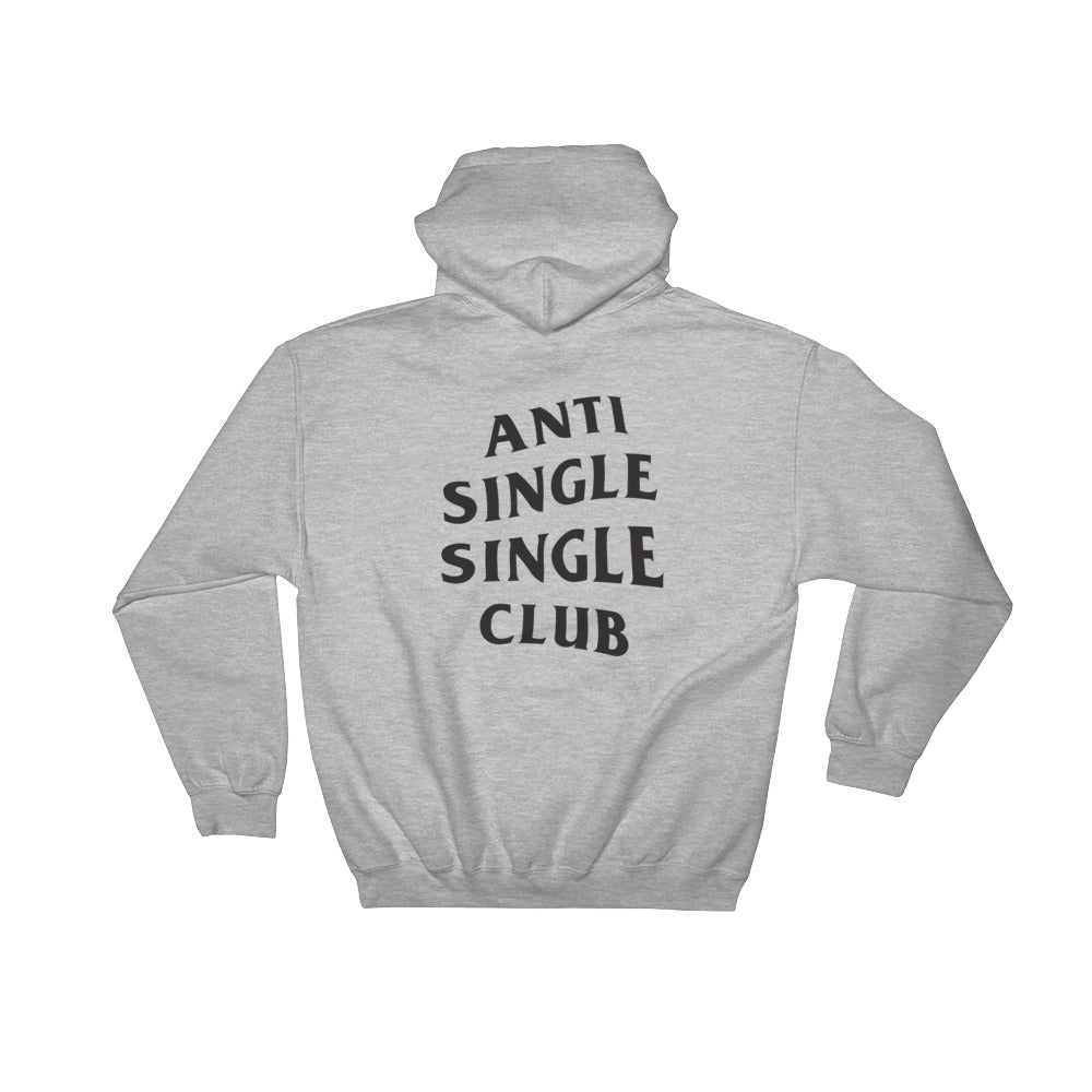 Anti Single Single Club Hoodie in wojak grey from 9GAG shop