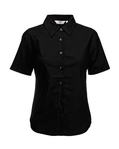 65000 Fruit Of The Loom Lady-Fit Short Sleeve Oxford Shirt