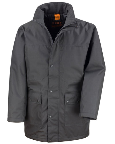 R307M WORK-GUARD by Result Men's Platinum Managers Jacket