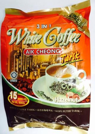 益昌 3IN1白咖啡(15小包*40克)AIK CHEONG WHITE COFFEE HAZELNUT 特价