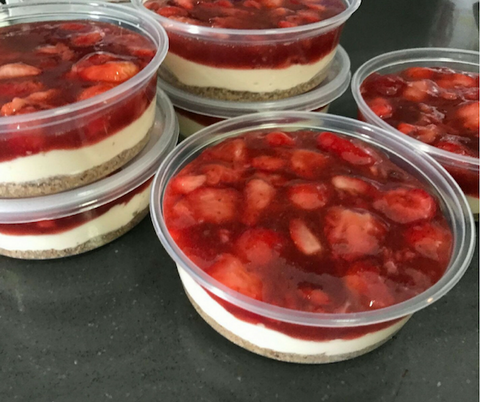 strawberry protein cheesecake