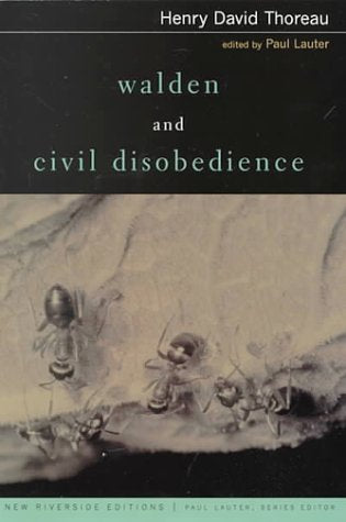 Walden And Civil Disobedience (Riverside Editions, A125)