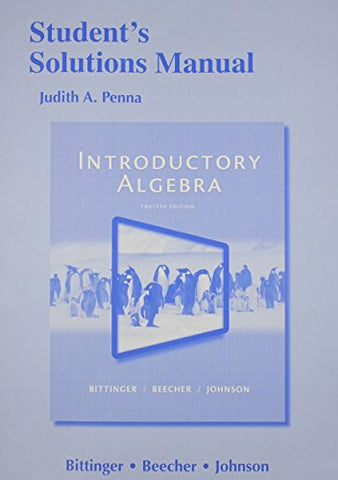 Student'S Solutions Manual For Introductory Algebra