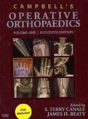 Campbell'S Operative Orthopaedics: 4-Volume Set With Dvd, 11E