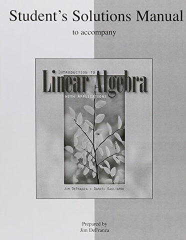 Student'S Solutions Manual T/A Intro To Linear Algebra