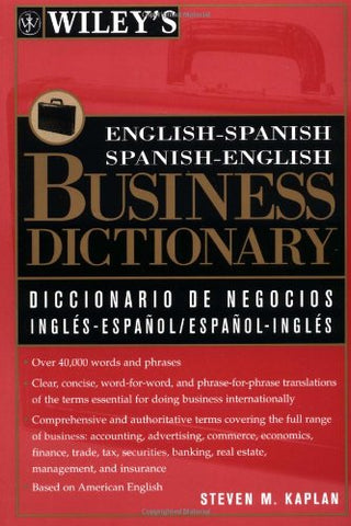 Wiley'S English-Spanish, Spanish-English Business Dictionary