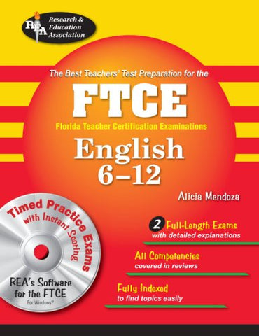Ftce English 6-12 W/Cd-Rom (Ftce Teacher Certification Test Prep)