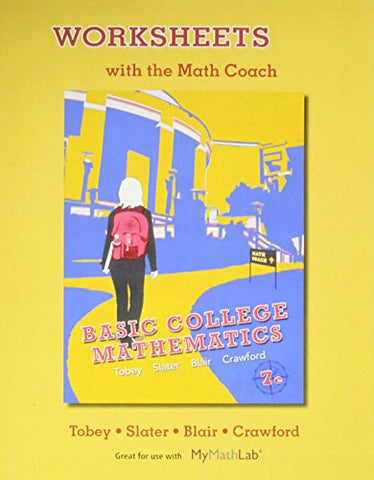 Worksheets With The Math Coach For Basic College Mathematics