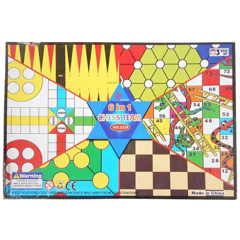 Games Box 6 in 1 - Evergreen Toys