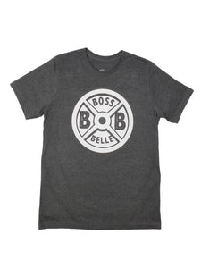BossBelle-Weightplate-Heather Grey-Unisex-Tshirt