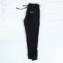 Load image into Gallery viewer, Black Logo Embroidered Joggers